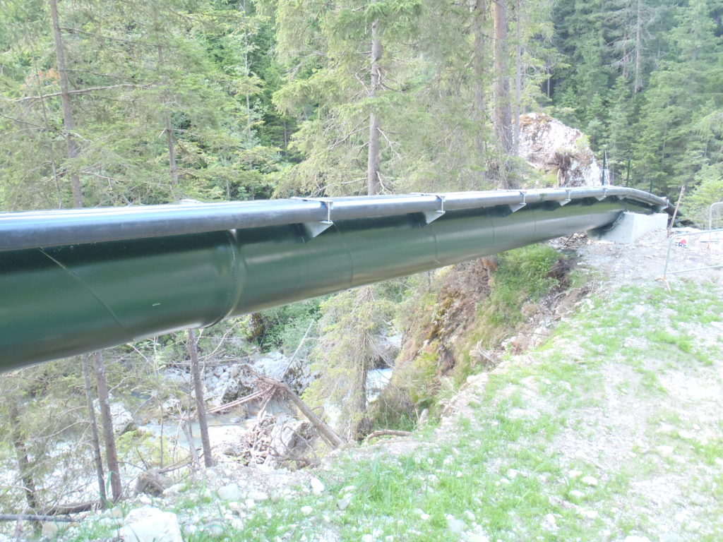 Epoxidharzbeschichtete Druckrohrleitung
