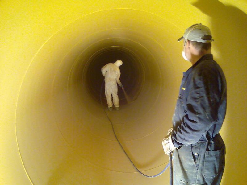Innenbeschichtung einer Rohrleitung