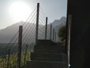 Zaun mit Drahtseil
